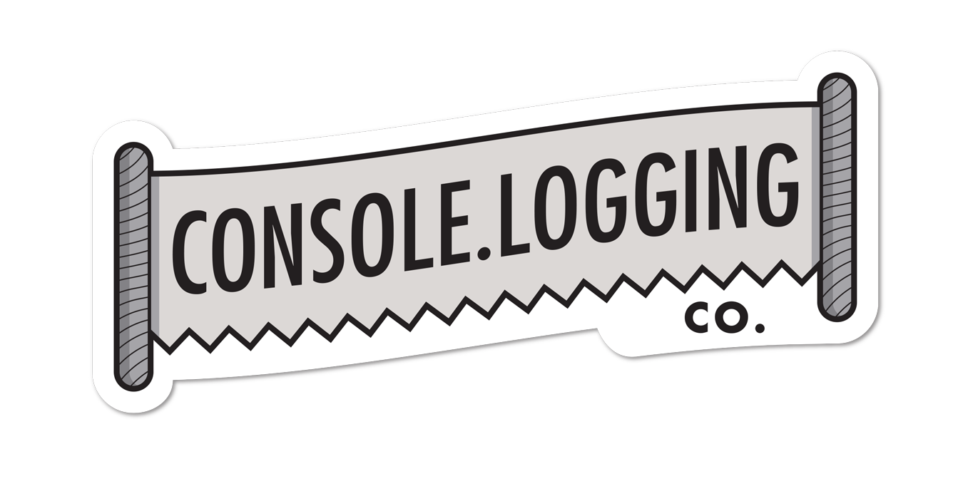 A Console.Logging Co. sticker is available through Sticker Mule.
