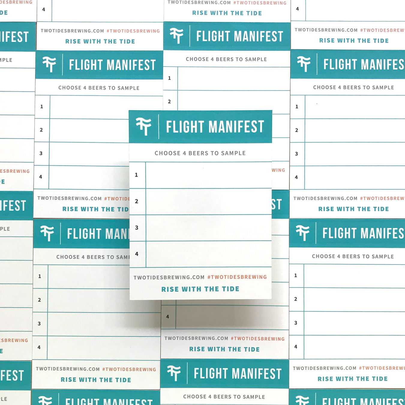 A photograph of the flight manifest that you would use to select your flight choices.